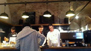 Visiting one of the best coffeeshops on the Coffee Tour, Budapest