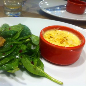 Goat cheese brulée at St. Andrea Wine Bar, Budapest