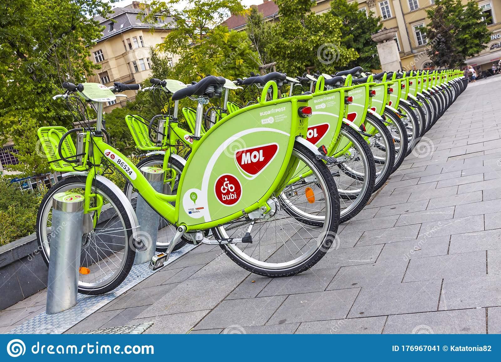 Bubi bikes - public bike system in Budapest