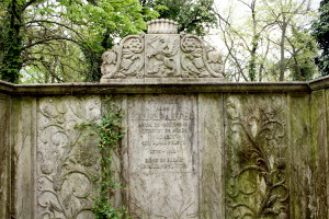 The szecesszió style tombstone of a noble family at the Jewish cemetery, Budapest