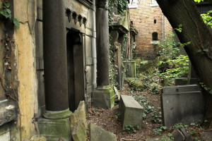Abandoned crypts in the Jewish cemetery, Budapest