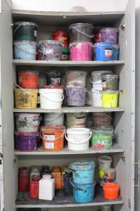Choose a color! - Silkscreen printing at Printa, Jewish district, Budapest