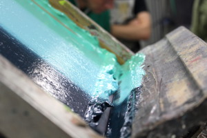 Silkscreen printing at Printa, Jewish district, Budapest
