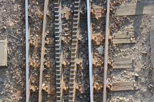 The tracks of the cog-wheel railway, Budapest
