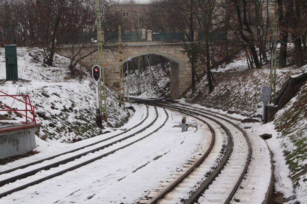 The tracks of the cog-wheel railway, Budapest