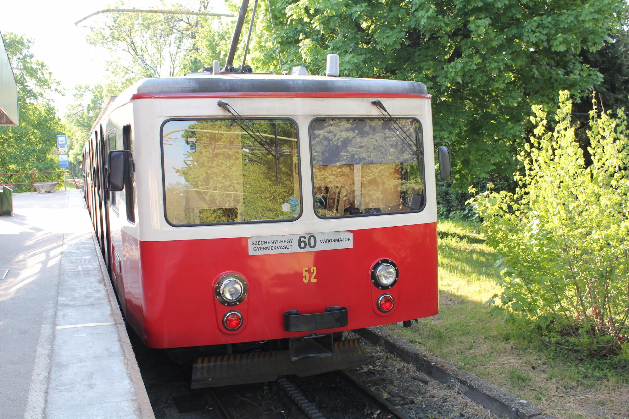 Cogwheel railway in Budapest