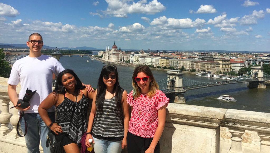 Starr and her friends on a 101 Tour with Judit
