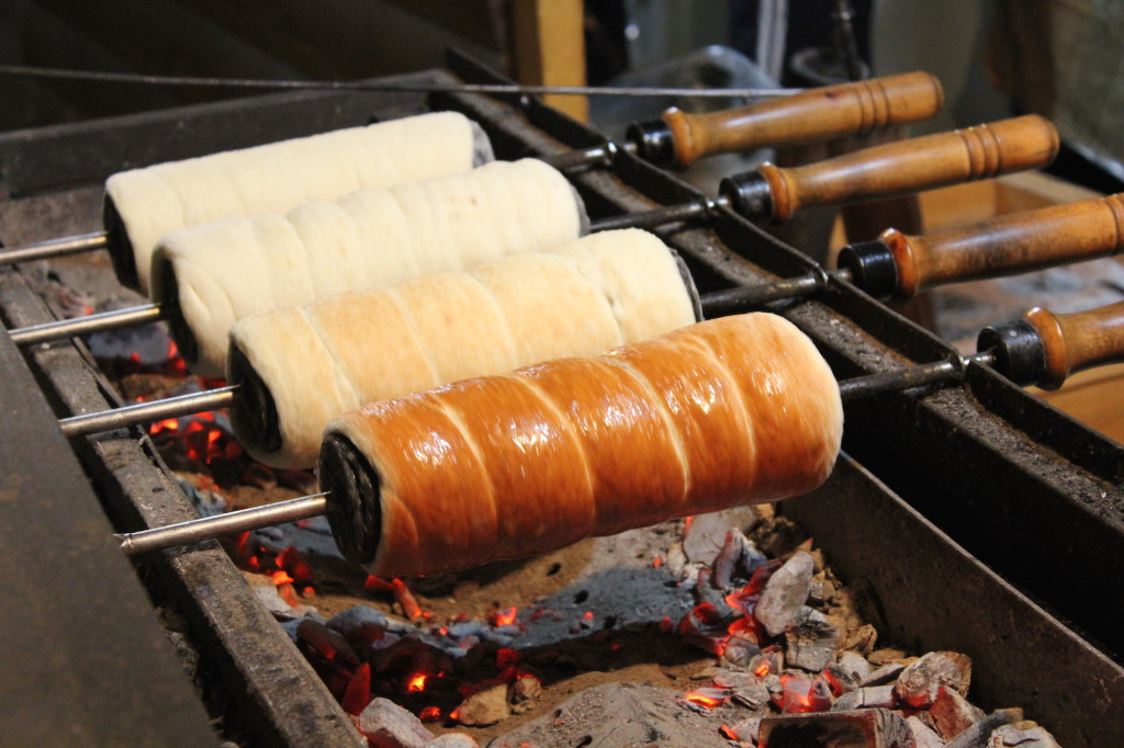 Kürtőskalács or chimney cake at the Budapest Christmas Market
