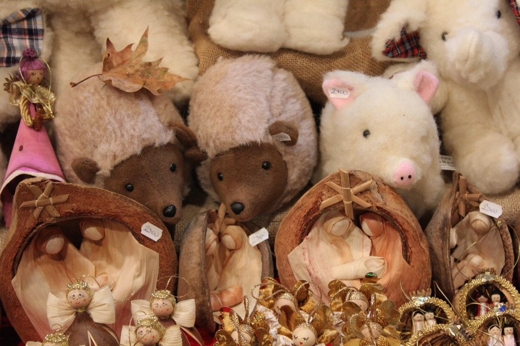 Wool souvenirs at the Budapest Christmas Market
