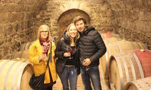 Wine tasting in a cellar on a wine tour to Etyek, Hungary