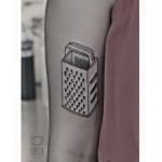 Cheese grater - Tattoo by Dorca