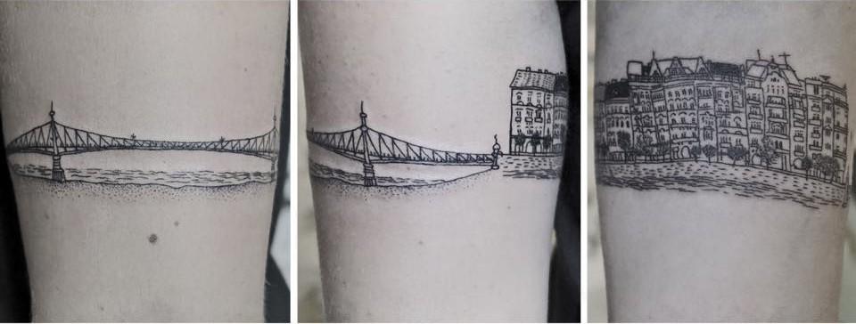 Liberty Bridge tattoo by Dorca