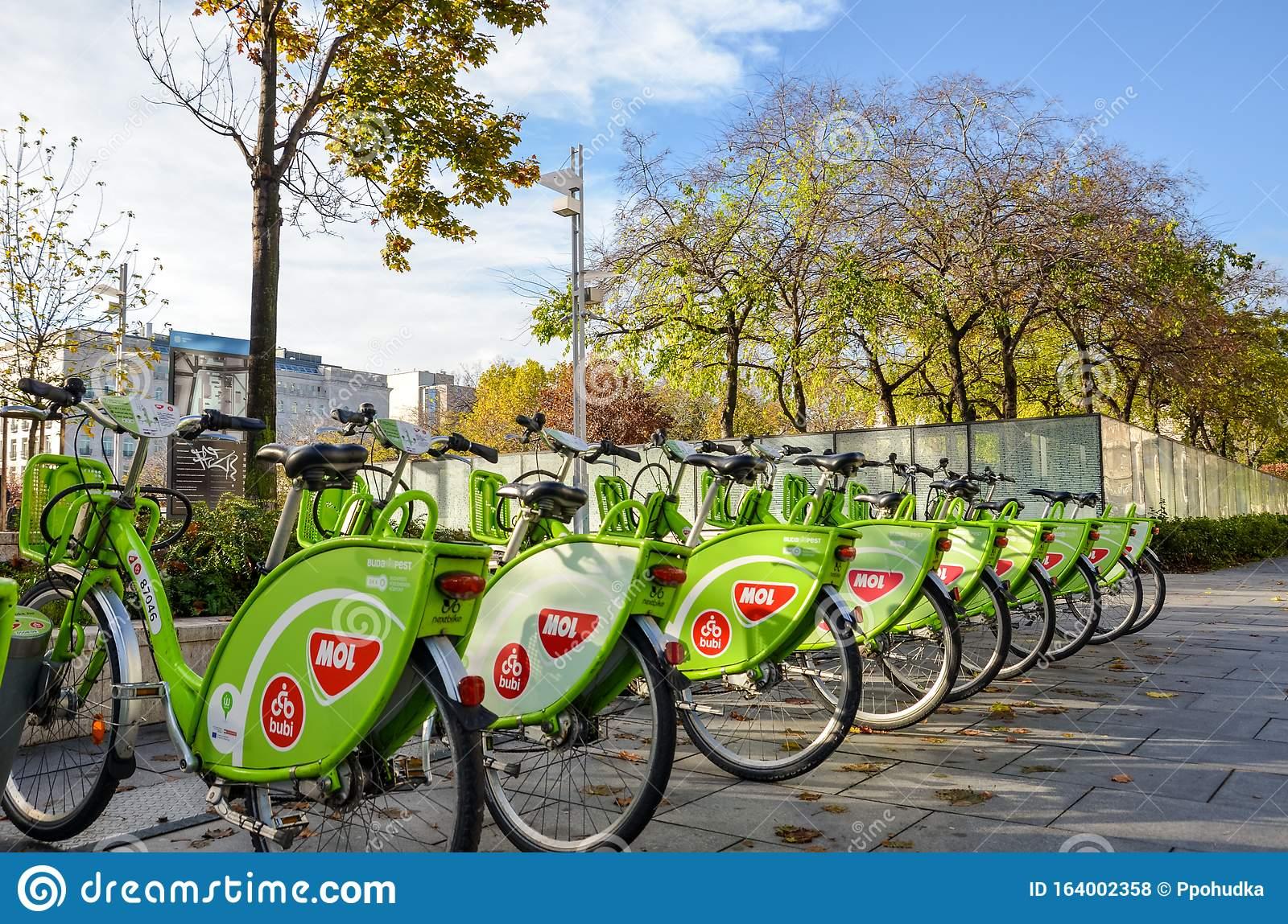 Public bikes of Budapest
