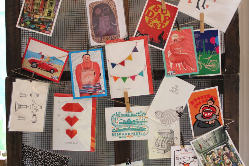 Budapest postcards designed by local artists