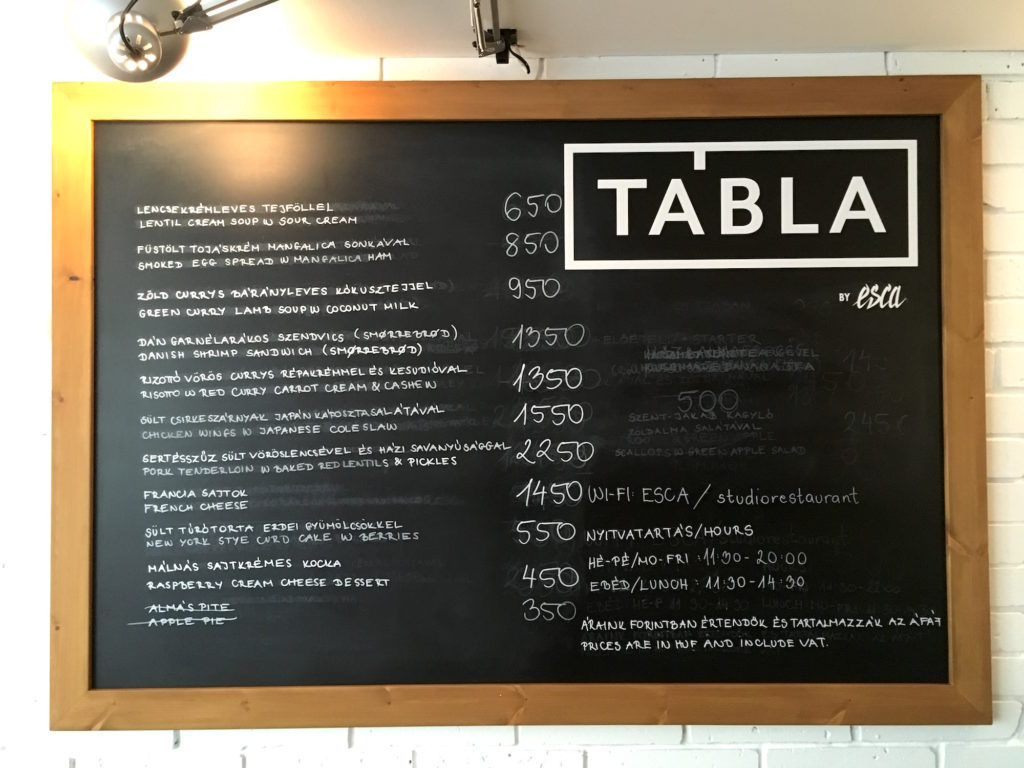 The blackboard of Tábla