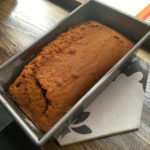 Freshly baked banana bread cooling down in the window at London Coffee Society