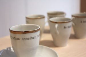 Coffee cups that remind us of the classic era of the Budapest coffeehouses