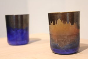 Artistic glasses with the image of the Parliament