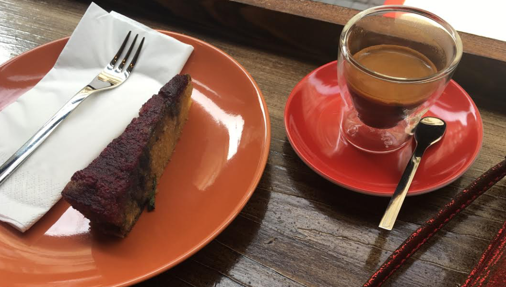 Rosemary Olive Oil Cake and Espresso at London Coffee Society, Budapest