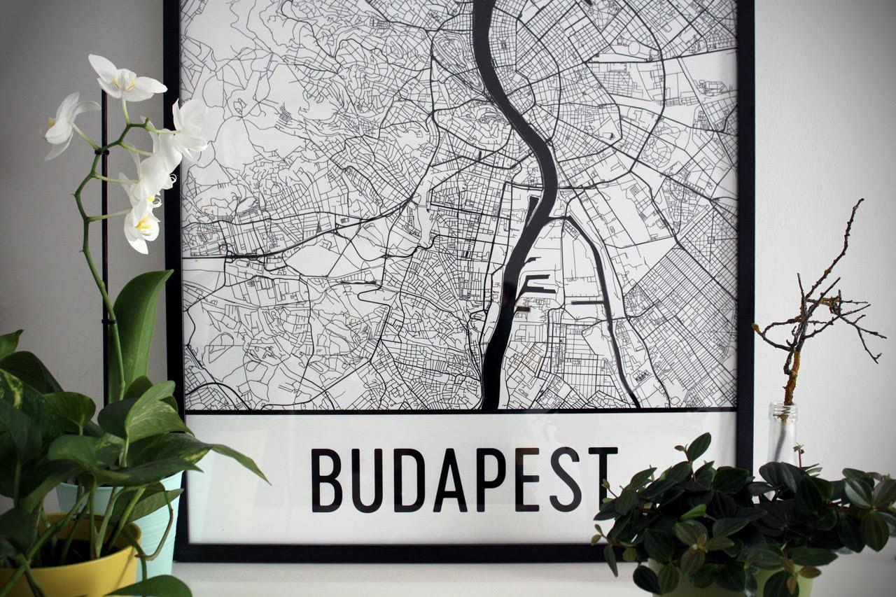 Modern Map Art Budapest