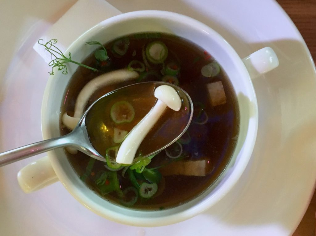 Mushroom consommé by Société demo on the Hold street market