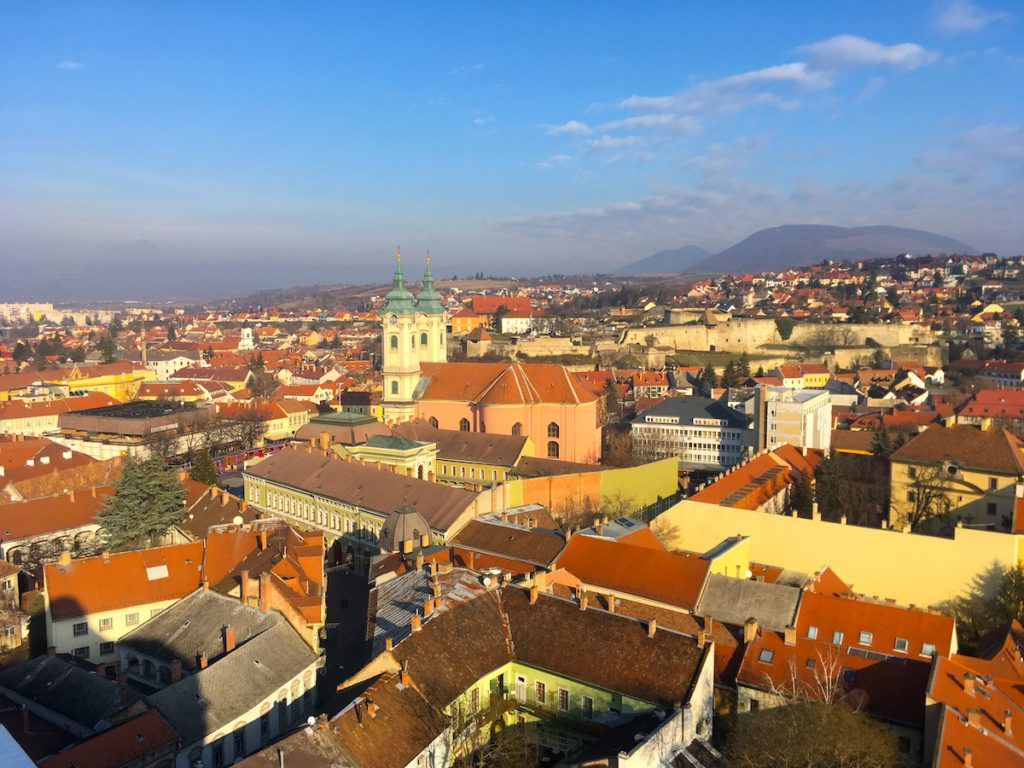 The panorama of Eger