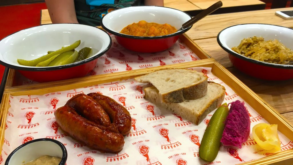 Try the paprika sausage in a butcher shop - book a Private Food Tour with Budapest 101
