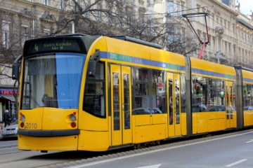 The 4-6 tram of Budapest runs all night long
