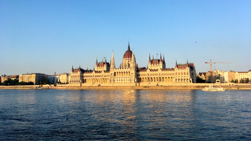 Budapest, Parliament, as seen from the Buda side