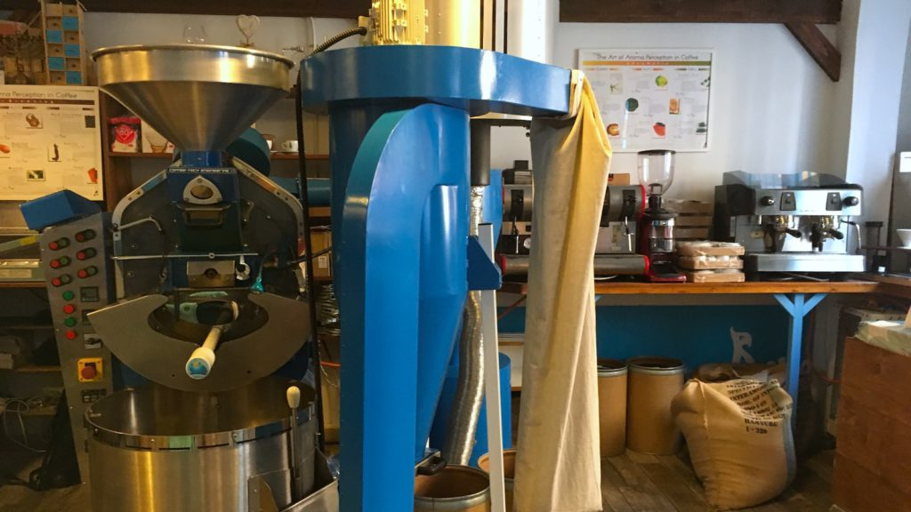 Blue Bird coffee roastery in Budapest, as seen on a Private Tour with Budapest 101