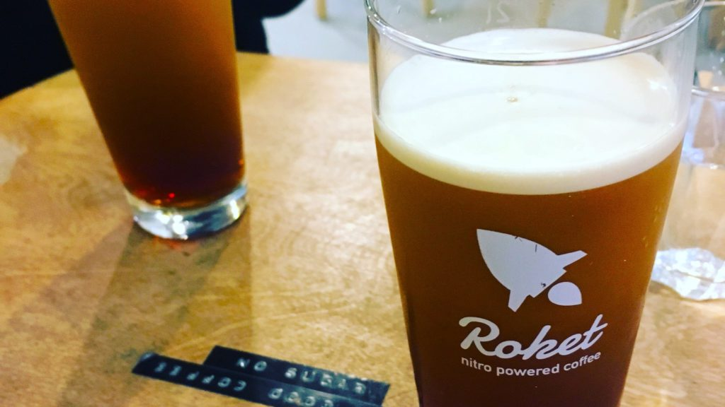 Nitro brew coffee called Roket at Kontakt, Budapest