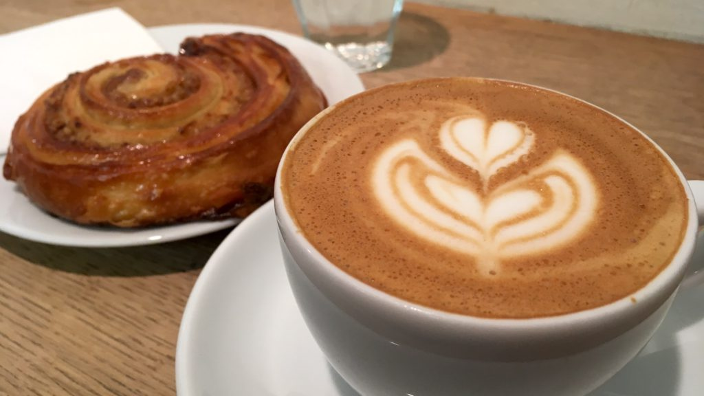 Coffee and Pastry in Budapest - there's no better start of the day than a cappuccino and a sweet pastry!