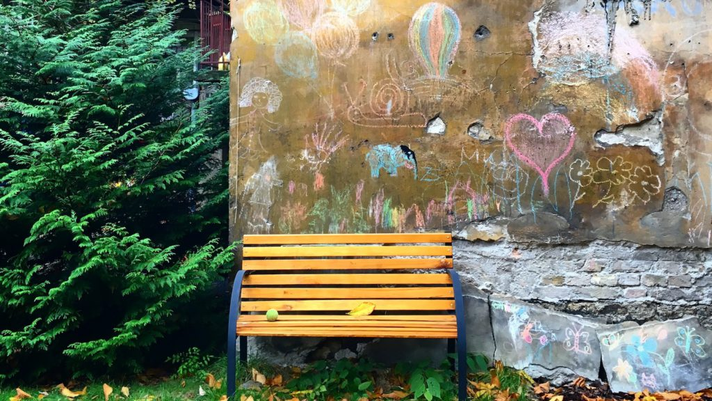 Hidden Gems Tour of Budapest - in the garden of a residential building