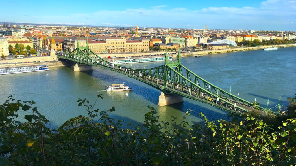 Liberty Bridge, Budapest, as seen from the Buda side
