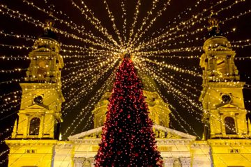 Budapest Christmas Market by the St Stephen's Basilica