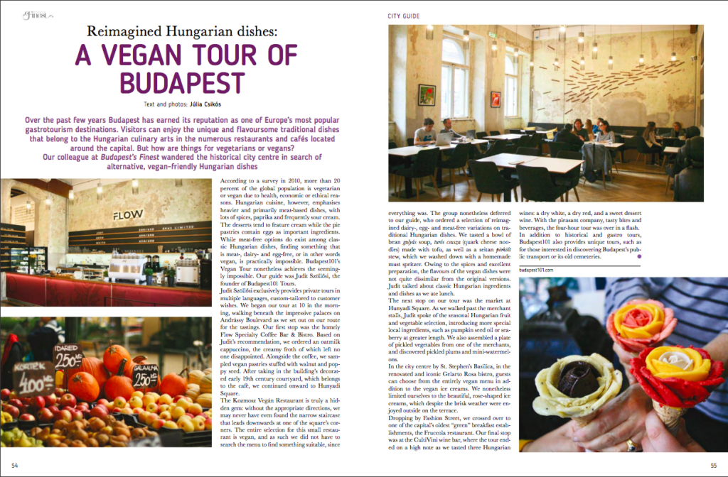 Article about the Vegan Tour of Budapest 101