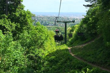 Chairlift in the Buda hills - unique transportation Budapest