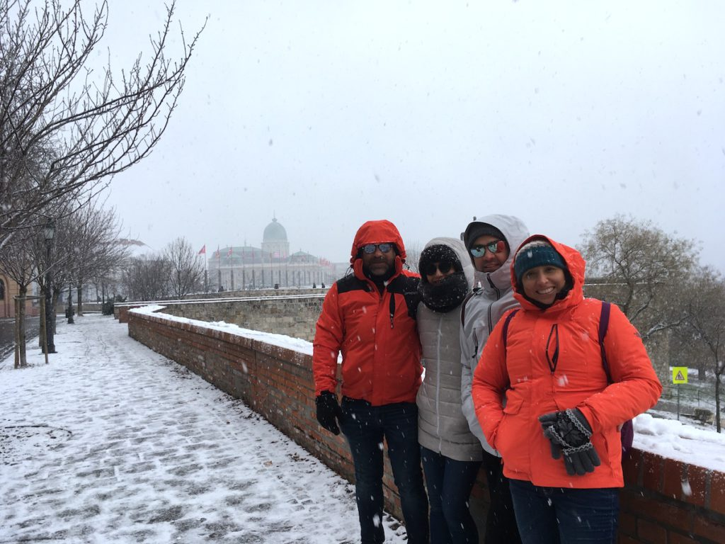 Snow in the Buda castle